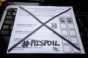a spoilt ballot paper from the 2012 elections